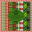 Scrapbookingpapper - 30x30cm - Christmas Plaid