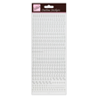 Outline Stickers - Small Numbers -  Silver