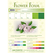Flower Foam - A4 - 6st ark - White & Green Set 6