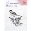 Clearstamps - Silhouette - Conifer branch with bird